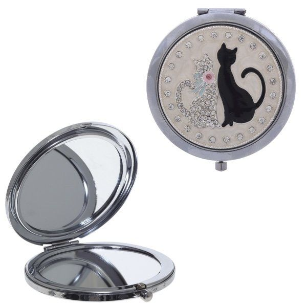 Зеркало карманное, L6 W6 H1,2 см
