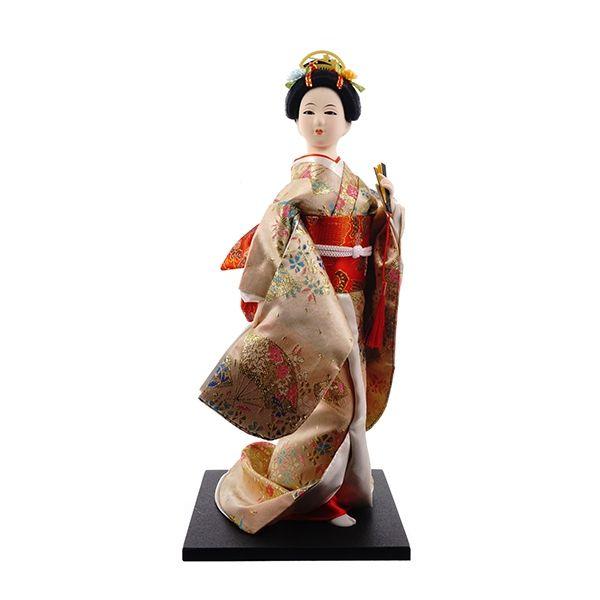 Homco white porcelain japanese geisha girl figurine with fan vintage