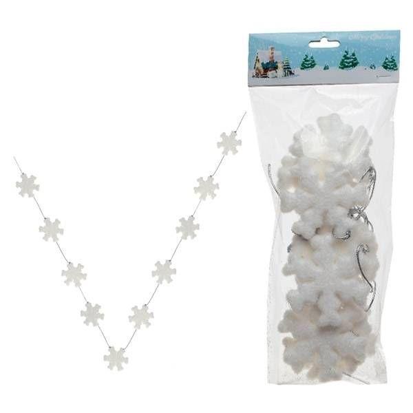 Набор из 10 новогодних украшений, Снежинка, 8 см