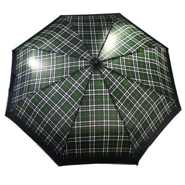 Зонт 23, полный автомат (Клетка зеленая с белым)