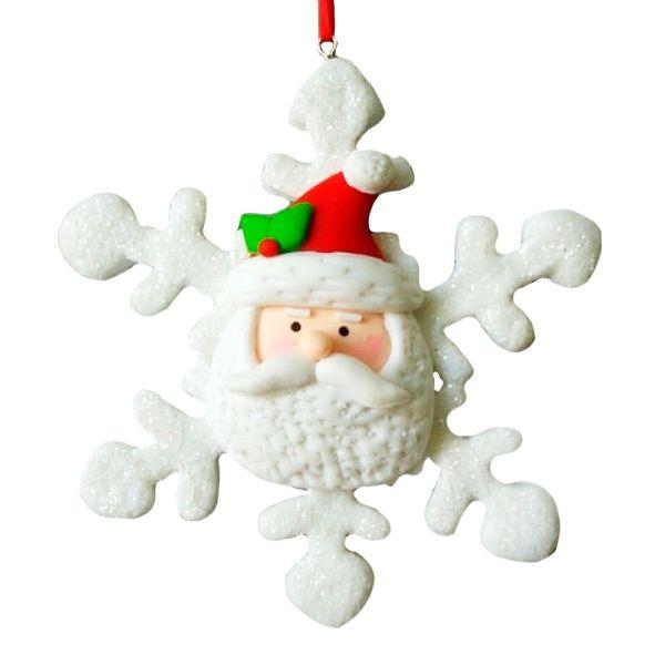 Новогоднее украшение Снежинка, 9,5 см,2в.