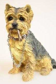 Статуэтка собаки Йорк с поводком LP08282