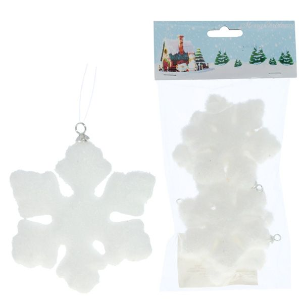 Новогоднее украшение Снежинка, 15 см набор 2шт