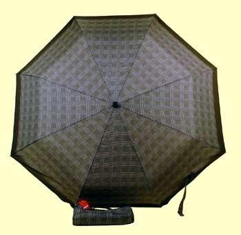 Зонт 23 цв.клетка, полный автомат, Зеленая клетка (мелкая)
