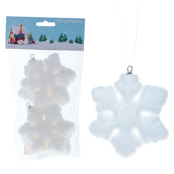 Новогоднее украшение Снежинка, 7,5 см набор 2шт.