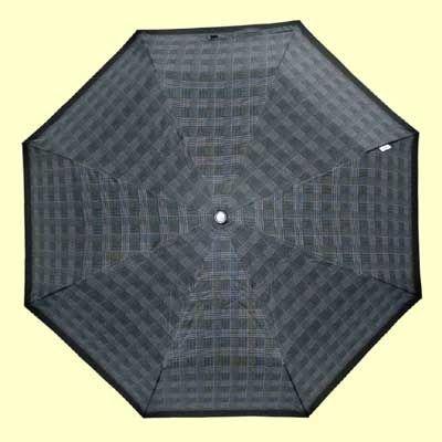 Зонт муж.23 клетка, полный автомат, ручка крюк, зеленая клетка (мелкая)