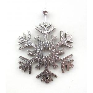 Новогоднее украшение Снежинка, 7.5x7.5 см