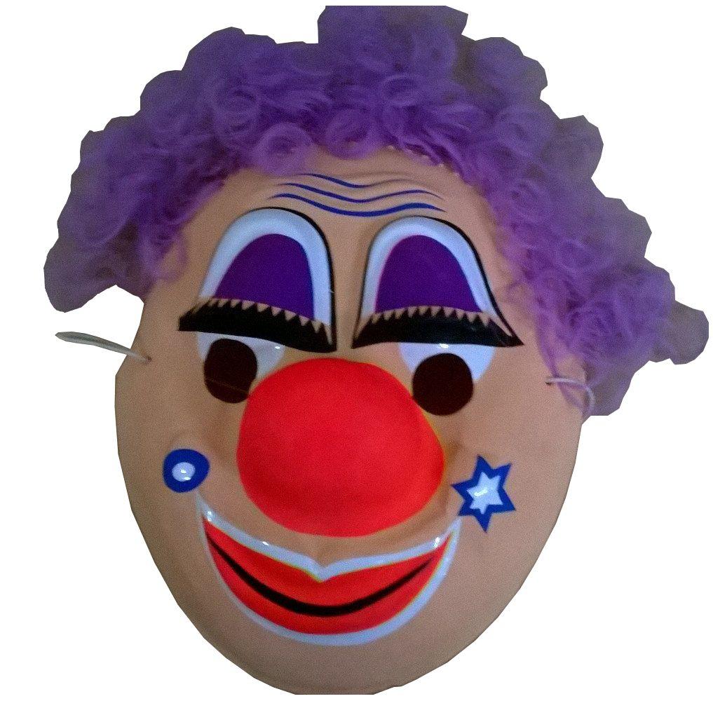 """Маска с волосами """"Клоун"""""""