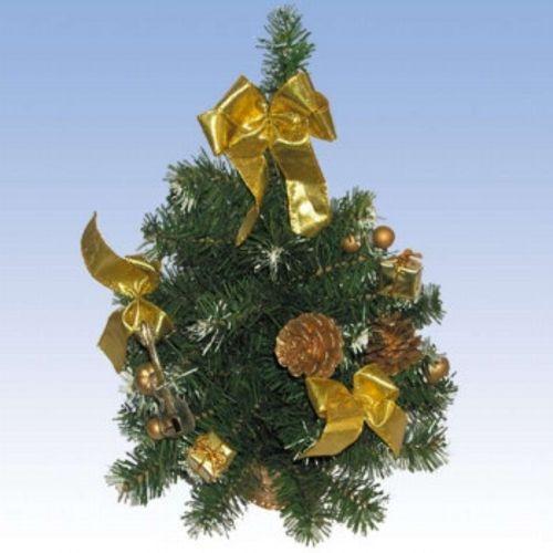 Новогодняя елка с украшениями в корзине, 41 см