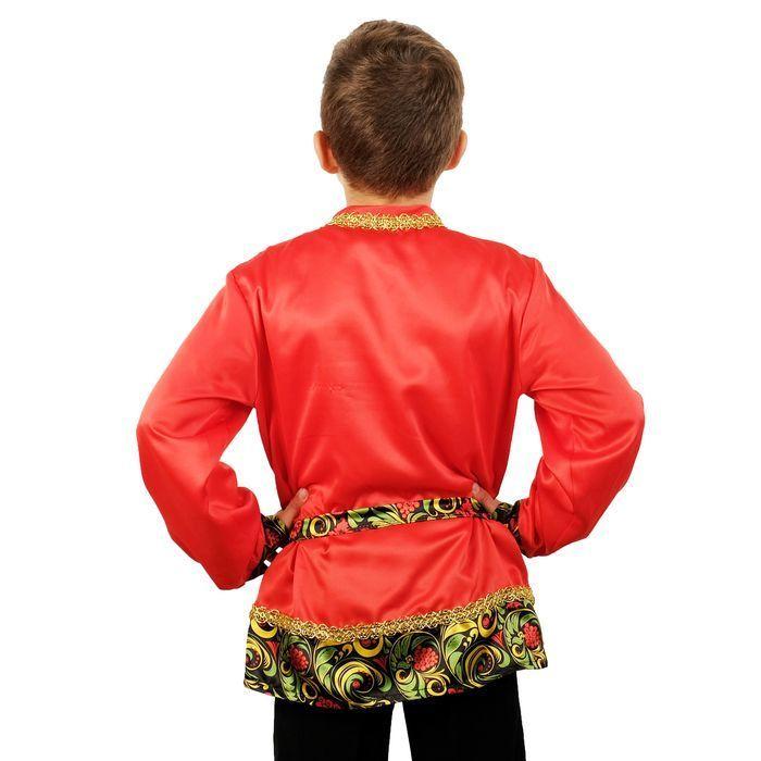 Карнавальная рубаха для мальчика «Рябинка» со вставкой, р. 30, рост 110-116 см
