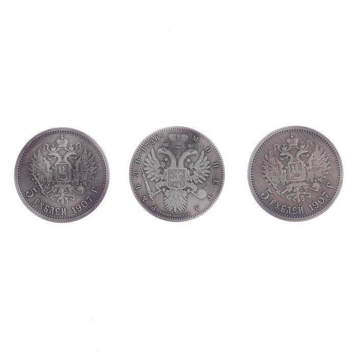 """Панно сувенир """"За любовь к отечеству"""" с монетами"""