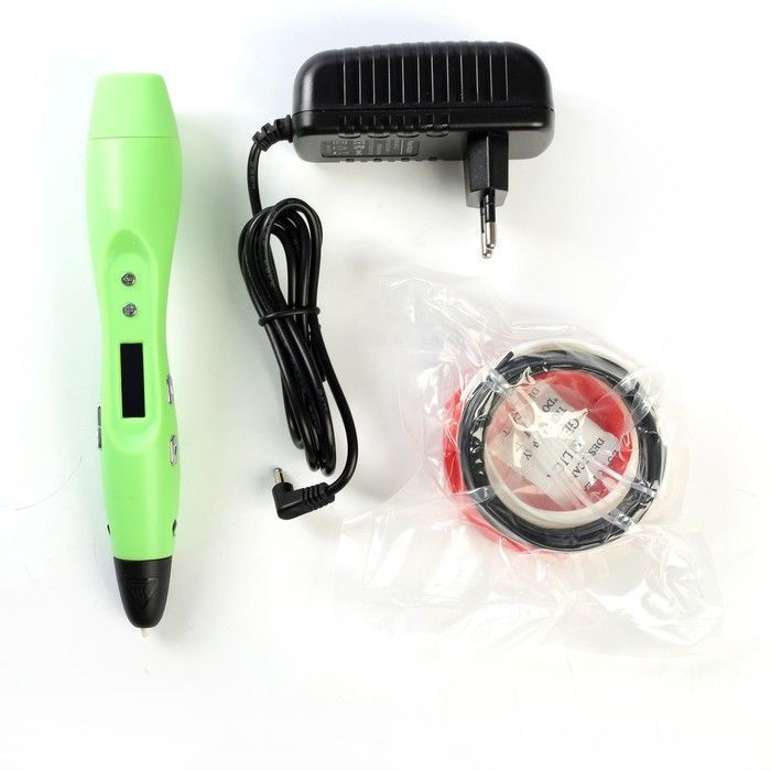 3D-ручка Funtastique ONE FP001A, ABS и PLA, с дисплеем, зеленый (+ пластик, 3 цвета)
