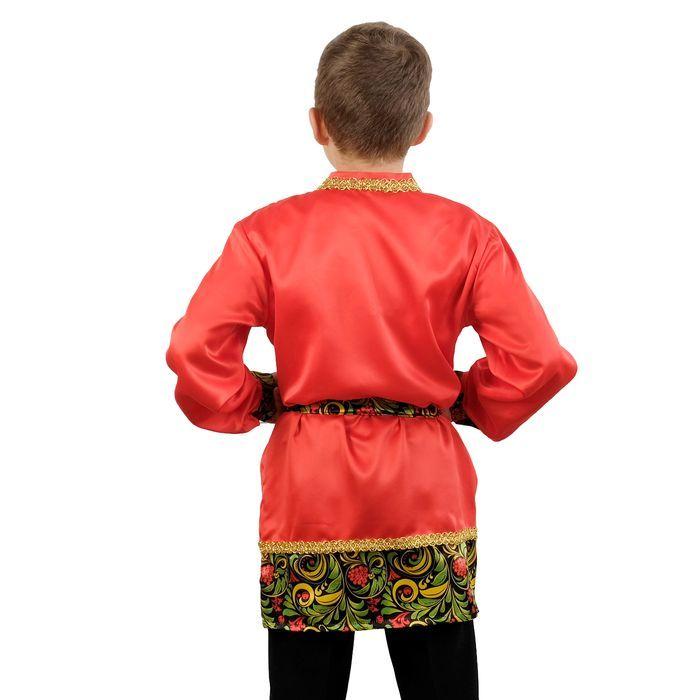 """Карнавальная рубаха для мальчика с кокеткой""""Рябинушка""""р-р40 рост152"""