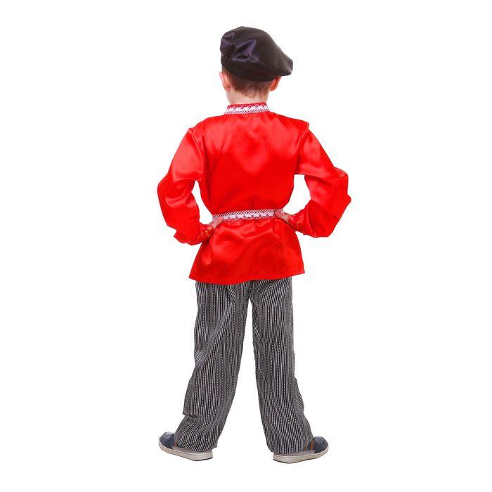 """Русский народный костюм """"Хохлома"""" для мальчика, р-р 64, рост 122 см"""