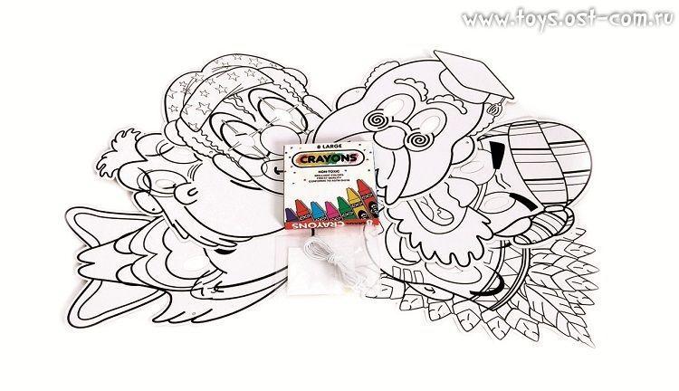 Веселые маски (создай и раскрась свои маски)
