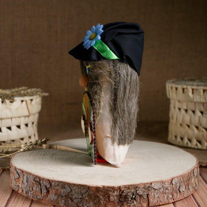 Оберег «Домовой» в кепке с гармошкой, 20-21 см
