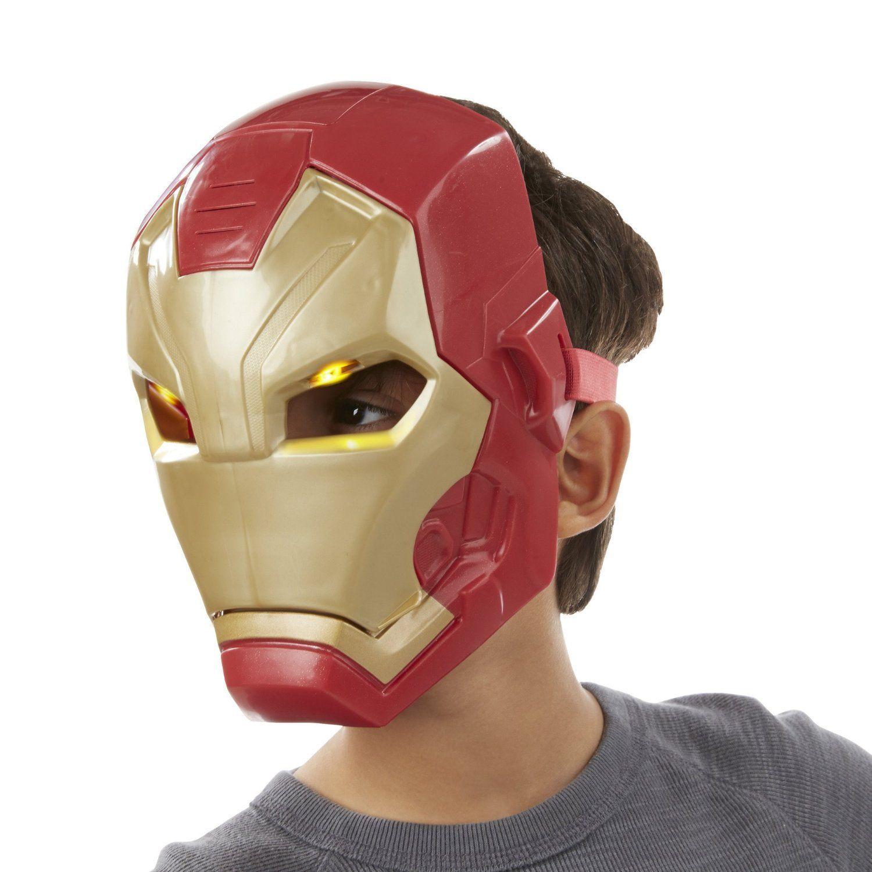 """Электронная маска """"Первый мститель"""" - Железный человек (свет, звук)"""