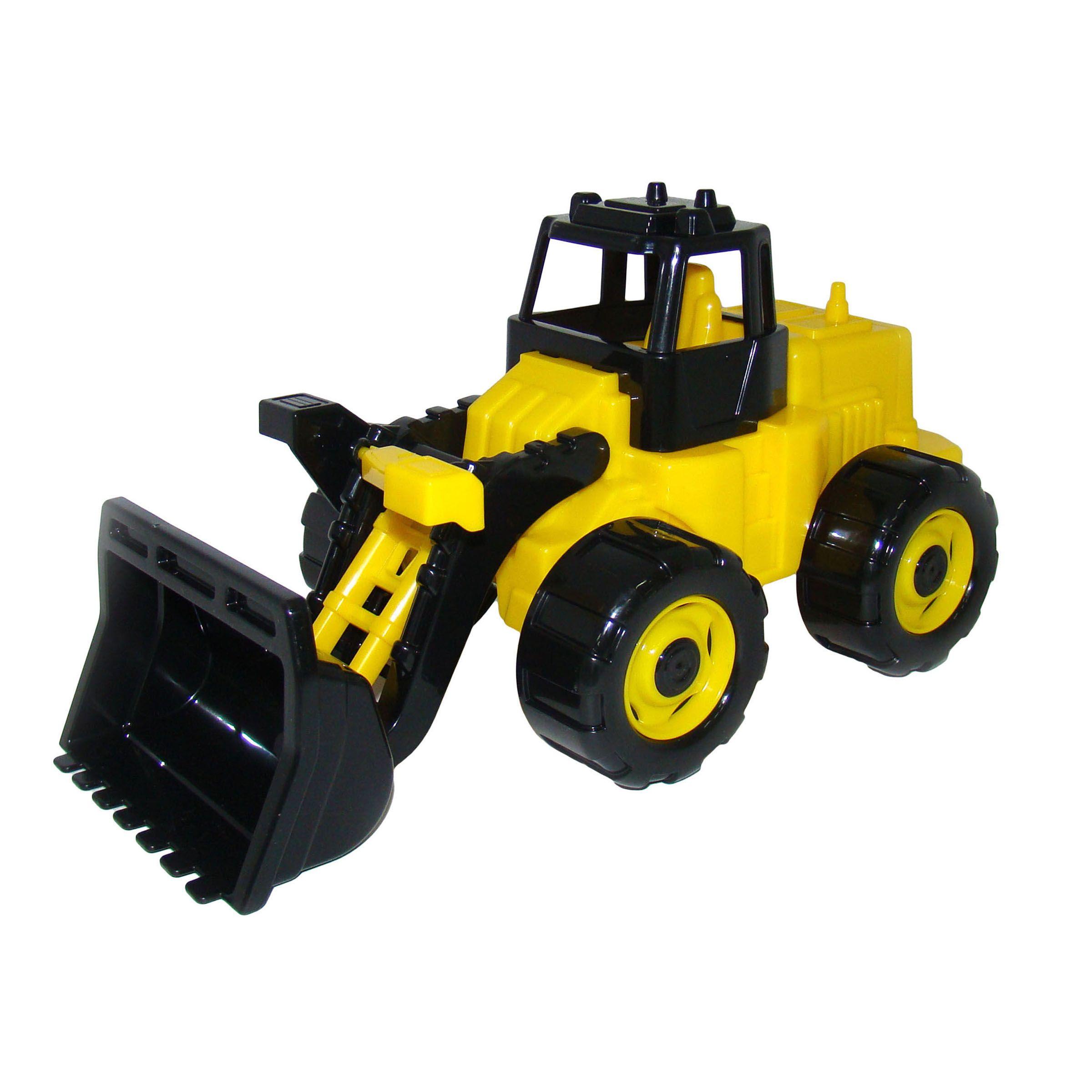 """Игрушечный трактор-погрузчик """"Геракл"""", желтый"""