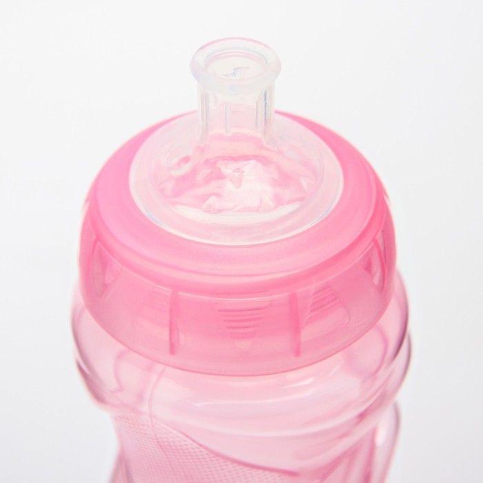 Поильник детский с мягким носиком, 340 мл, от 9 мес., цвет розовый