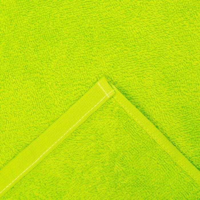"""Полотенце махровое """"Экономь и Я"""" 100х150 см зелёное яблоко, 100% хлопок, 340 г/м²"""