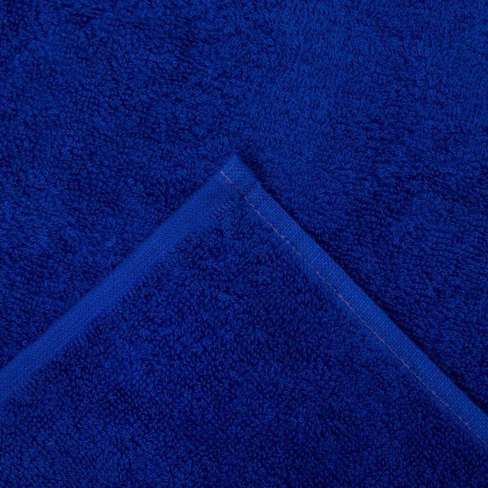 """Полотенце махровое """"Экономь и Я"""" 100х150 см синий, 100% хлопок, 340 г/м²"""