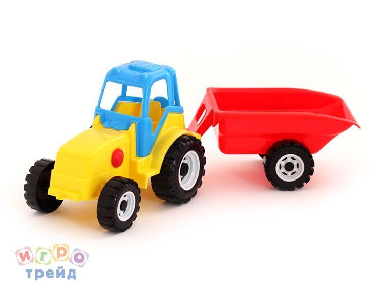 Трактор Famer с прицепом