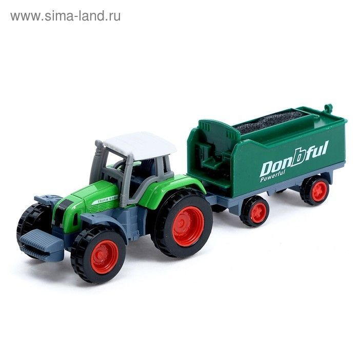 Трактор металлический «Фермер», масштаб 1:72, МИКС 2920459