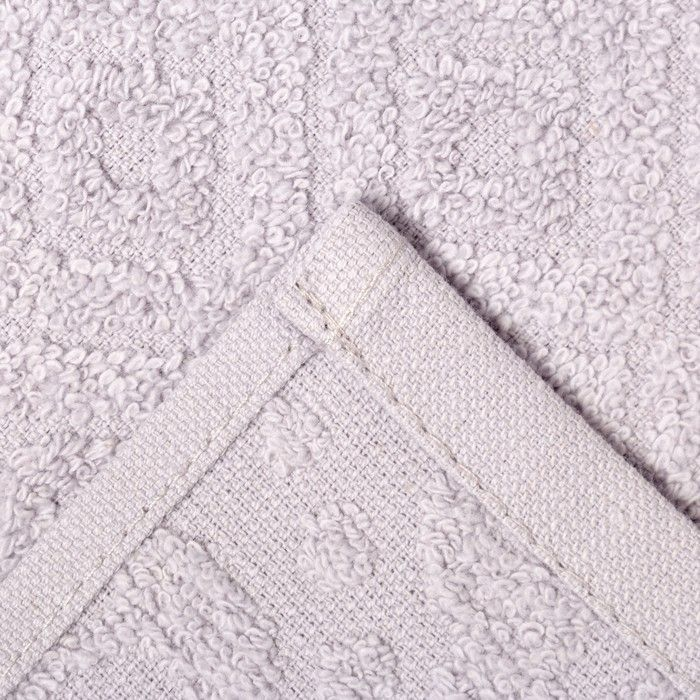 Набор махровых полотенец FLORİDA 50х90, 70х130 см, кварц, хлопок 100 %, 380 г/м