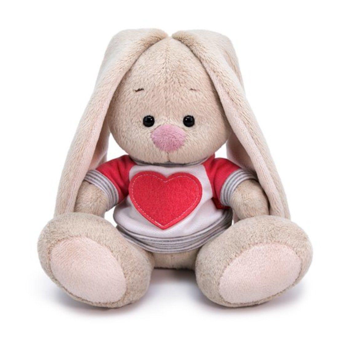 """Мягкая игрушка """"Зайка Ми в белой толстовке с сердцем"""", 15 см"""