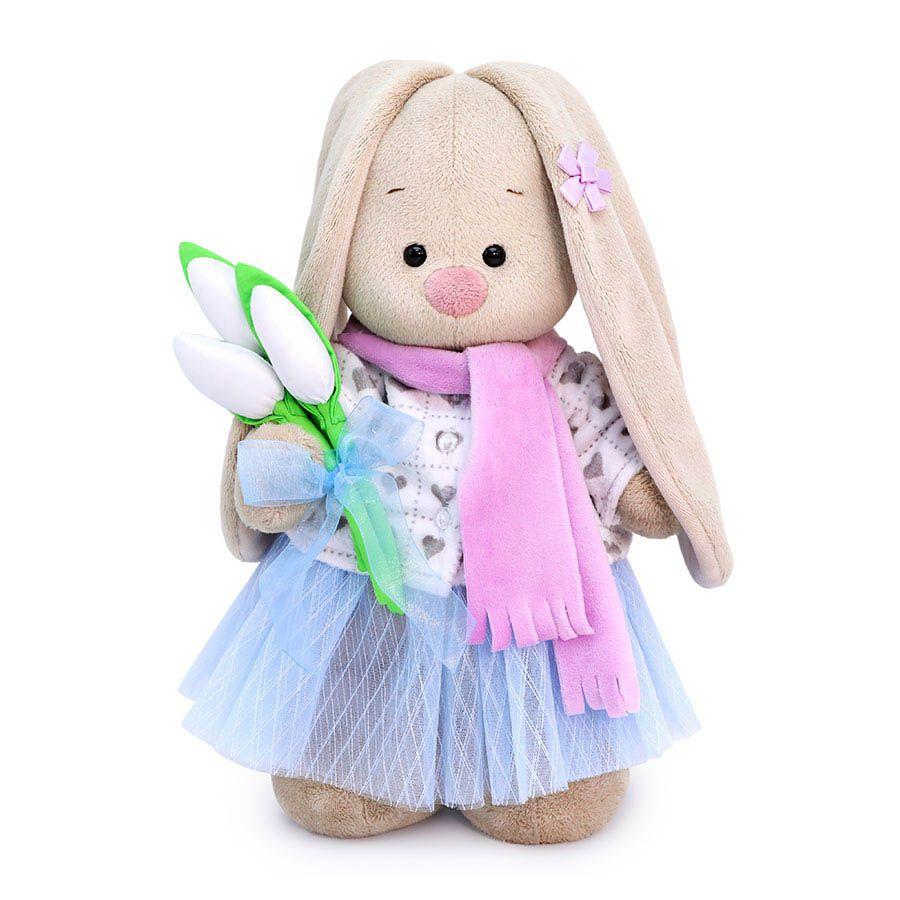 """Мягкая игрушка """"Зайка Ми с белыми тюльпанами"""", 32 см"""