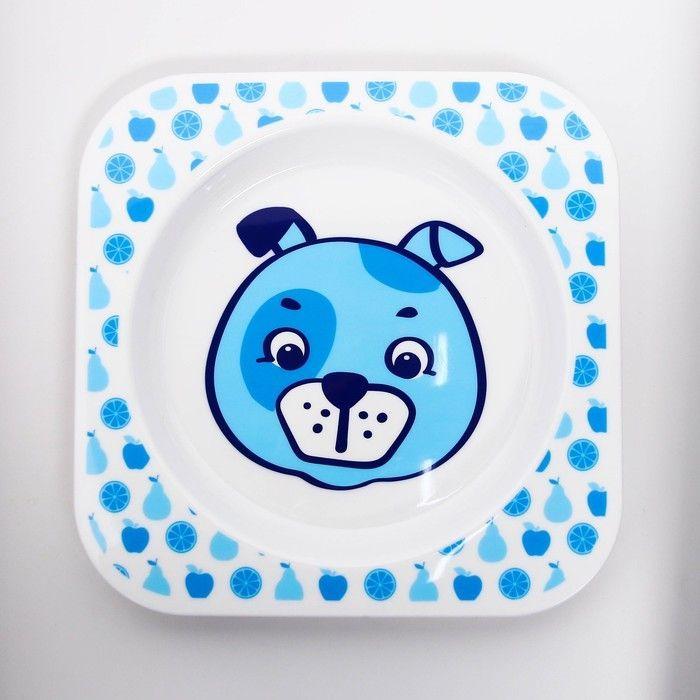 Тарелочка детская для вторых блюд «Веселый поваренок Щенок»