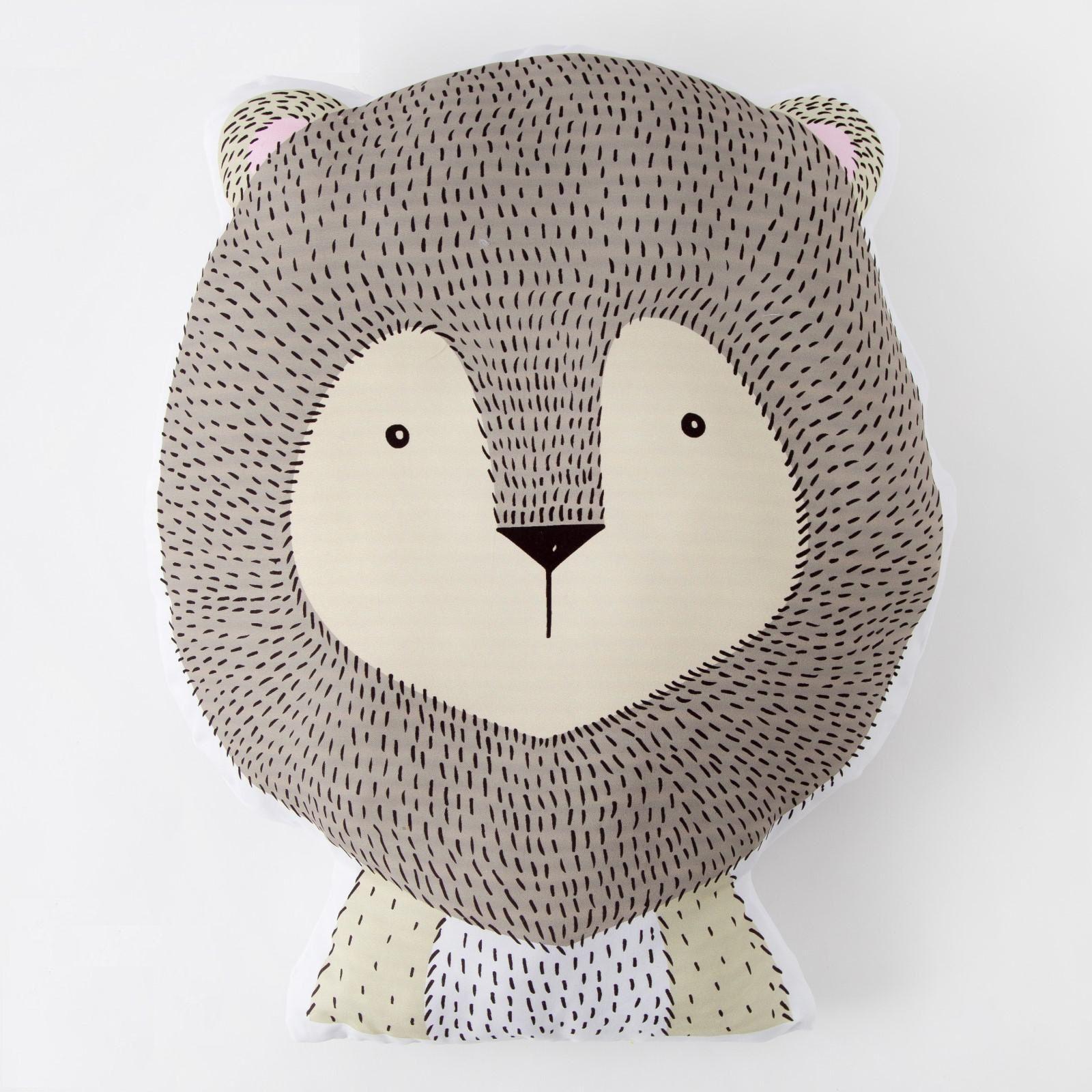 "Подушка ""Медвежонок"", серый, 43 х 39 см"