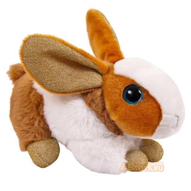 """Мягкая игрушка """"Кролик"""", коричневый, 15 см"""