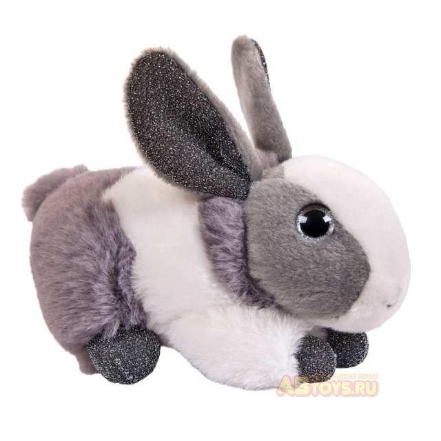 """Мягкая игрушка """"Кролик"""", серый, 15 см"""