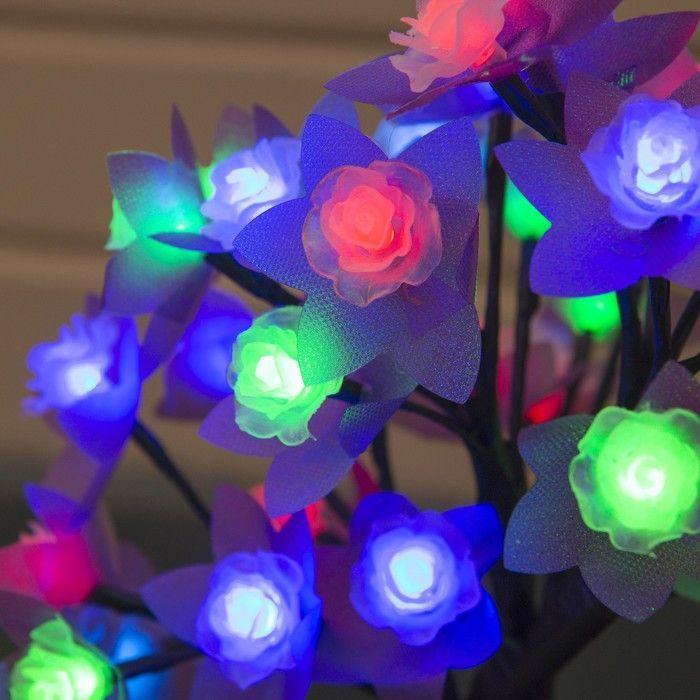 """Светодиодный куст улич. 0,3 м, """"Роза большая"""", 32 LED, 220V, моргает RG/RB"""