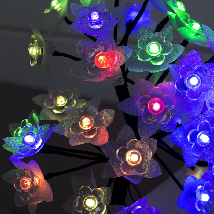 """Светодиодный куст улич. 0,3 м, """"Цветочек"""", 32 LED, 220V, моргает RG/RB"""