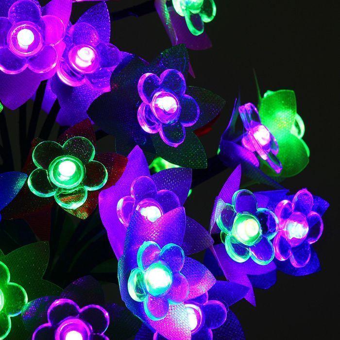 """Светодиодный куст улич. 0,3 м, """"Орхидея"""", 32 LED, 220V, моргает RG/RB"""