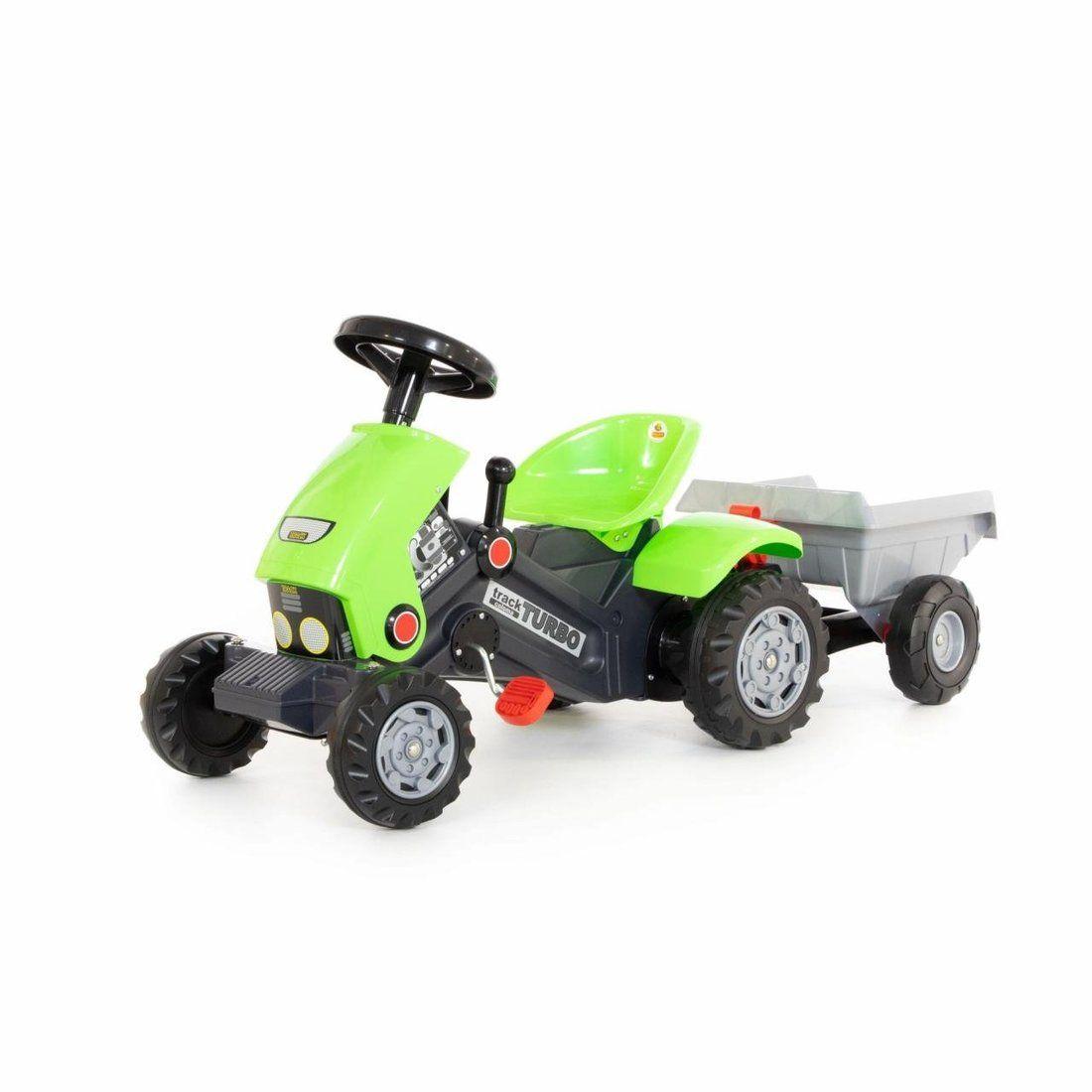 Каталка-трактор с педалями Turbo-2 с полуприцепом