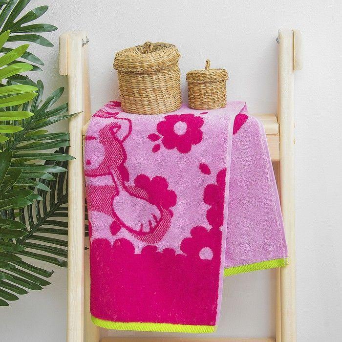 """Полотенце махровое """"Congrats"""", 50х90 см, розовый, 420 г/м 2 ,100% хл. ПЛ-2602-3067"""
