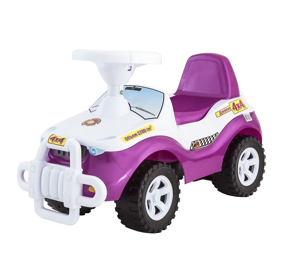 """Машинка-каталка """"Джипик"""", бело-розовая"""
