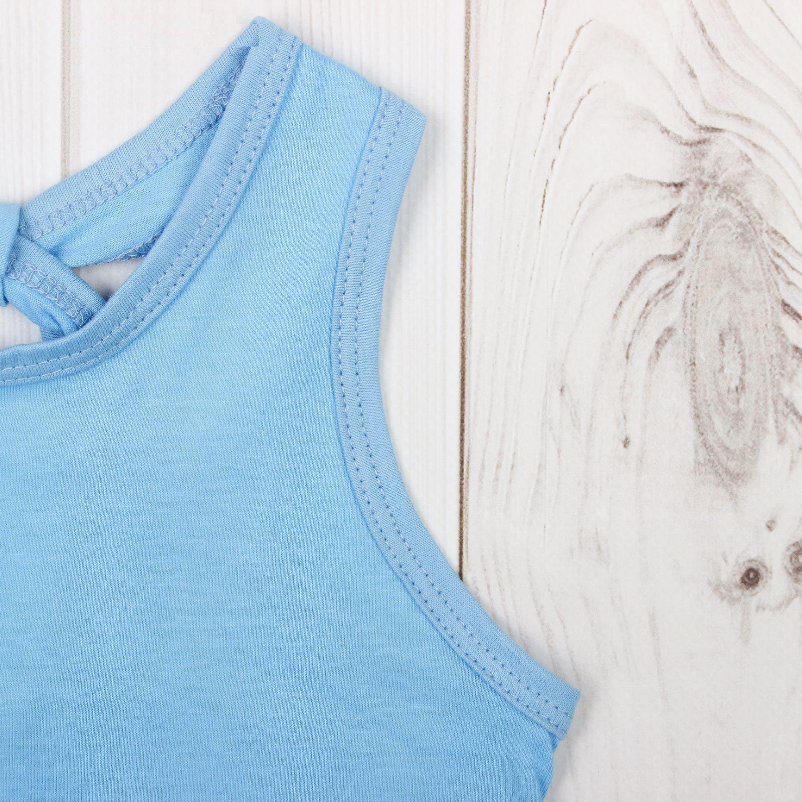 """Майка для девочки """"Мария"""", голубая, 122-128 см"""