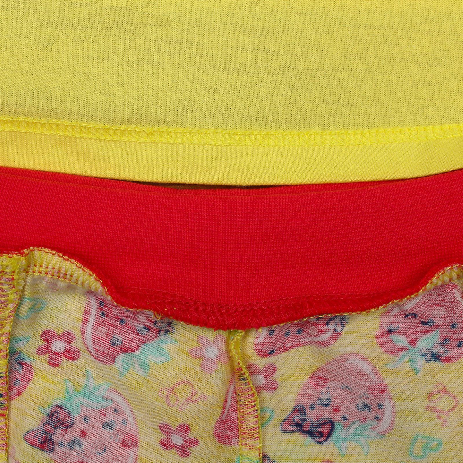 "Детский комплект ""Футболка и шорты"", желтый, 74 см"