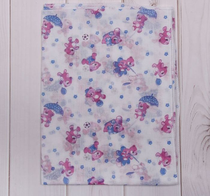 Комплект из 10 ситцевых пеленок, 120 x 90 см