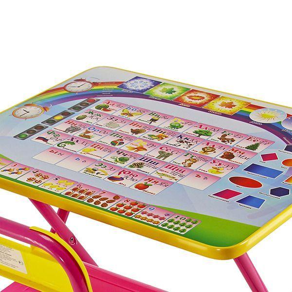 """Набор мебели """"Дэми"""" №1 - """"Алфавит"""", розовый"""