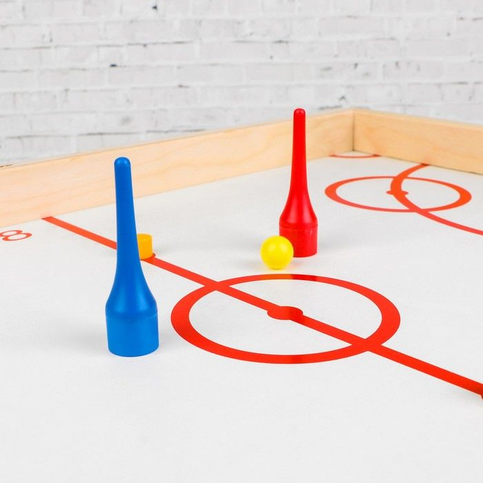 Игра настольная деревянная «Магнитный хоккей с мячом»