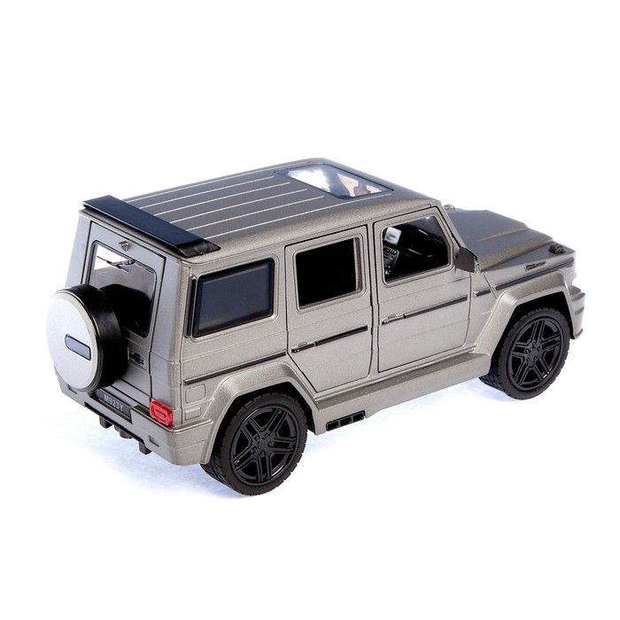 Машина металлическая «Джип», открываются двери, капот, багажник, инерция, цвет серый матовый