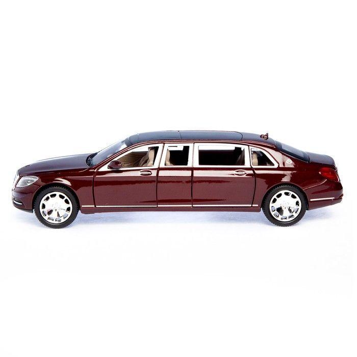 Машина металлическая «Лимузин», открываются двери, капот, багажник, инерция, цвет бордо