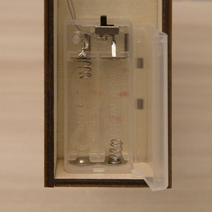 """Фигура дерев """"Елочка объемная"""" 30х6х40 см (2xAA не в компл.) 10 LED, ТЕПЛО-БЕЛЫЙ"""
