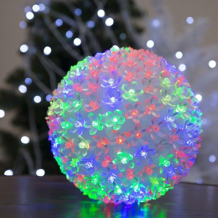 "Фигура ""Шар из цветов"" 18х18 см, пластик, 200 LED, 240V RG/RB"