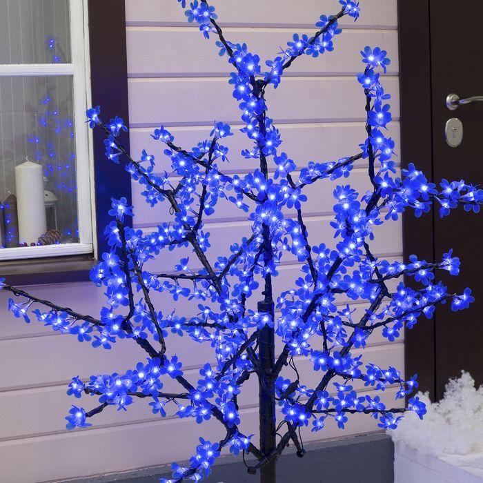 """Дерево светодиодное улич. 1,5 м. """"Баугиния"""" 480Led, 30W, 220V Синий"""